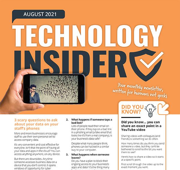 August 2021 Niagara IT Support Technology Insider