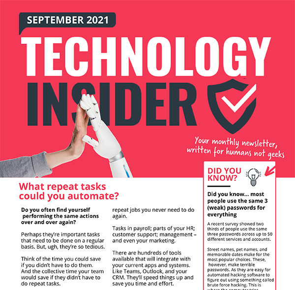Bowes IT Niagara IT Support Sept 2021 Technology Insider
