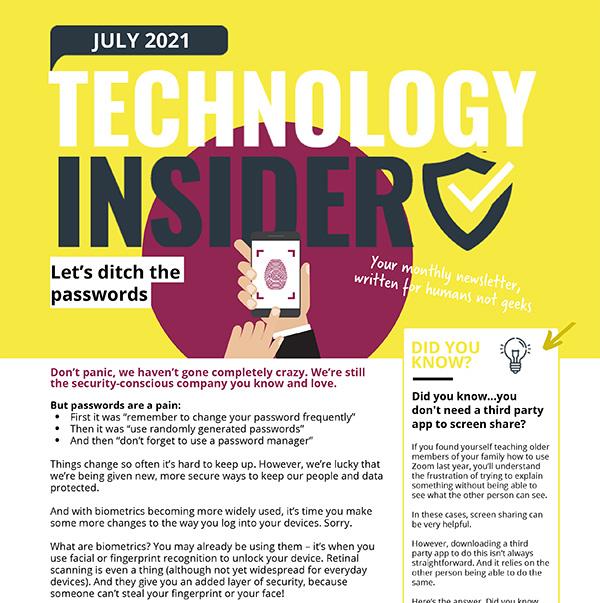 July 2021 Niagara Technology Insider