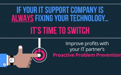 If your IT Support Company is ALWAYS Fixing Your Technology